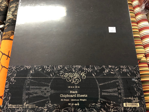 4501808 Black Chipboard Sheets