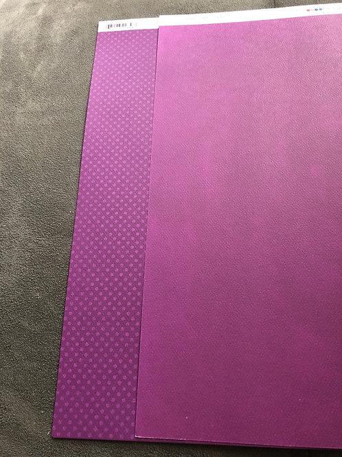 "12"" Grape Double Dot Paper"