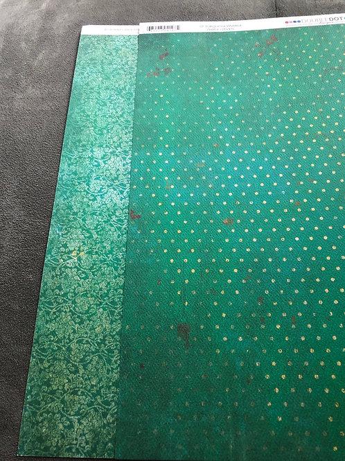 "12"" Turquoise Vintage BoBunny Paper"