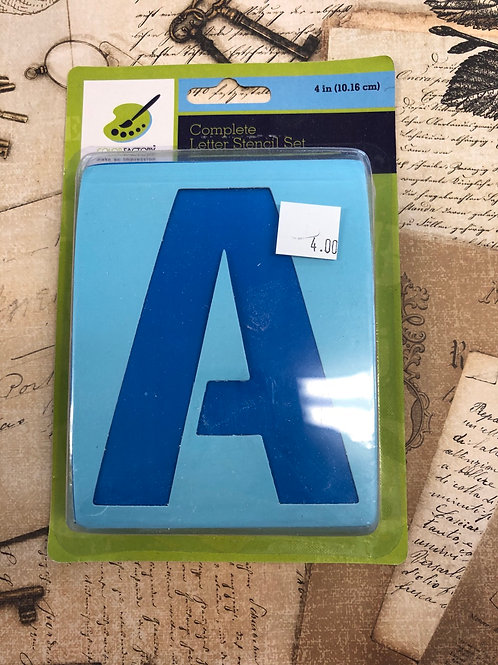 """4"""" Stencil Letter"""