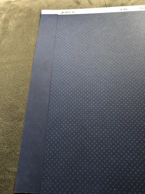 "12"" Dark Denim Double Dot BoBunny Paper"