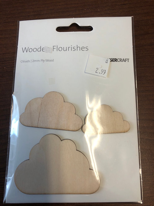 Wooden clouds