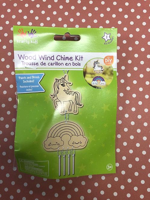 CK176A Wood Wind Chime Kit Unicorn