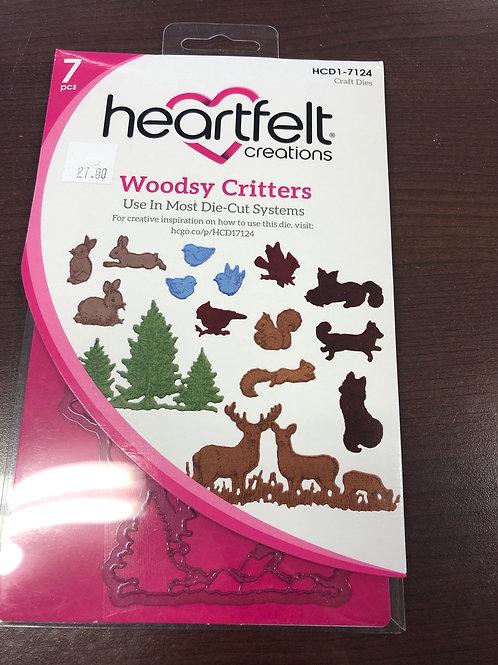 Heartfelt Woodsy Critters Die