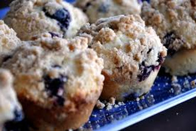 Blueberry Muffin with Streusel Topping