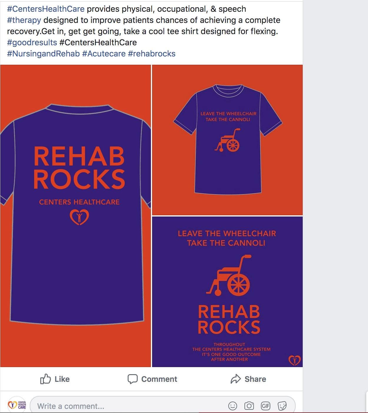 rehab rock centers health care