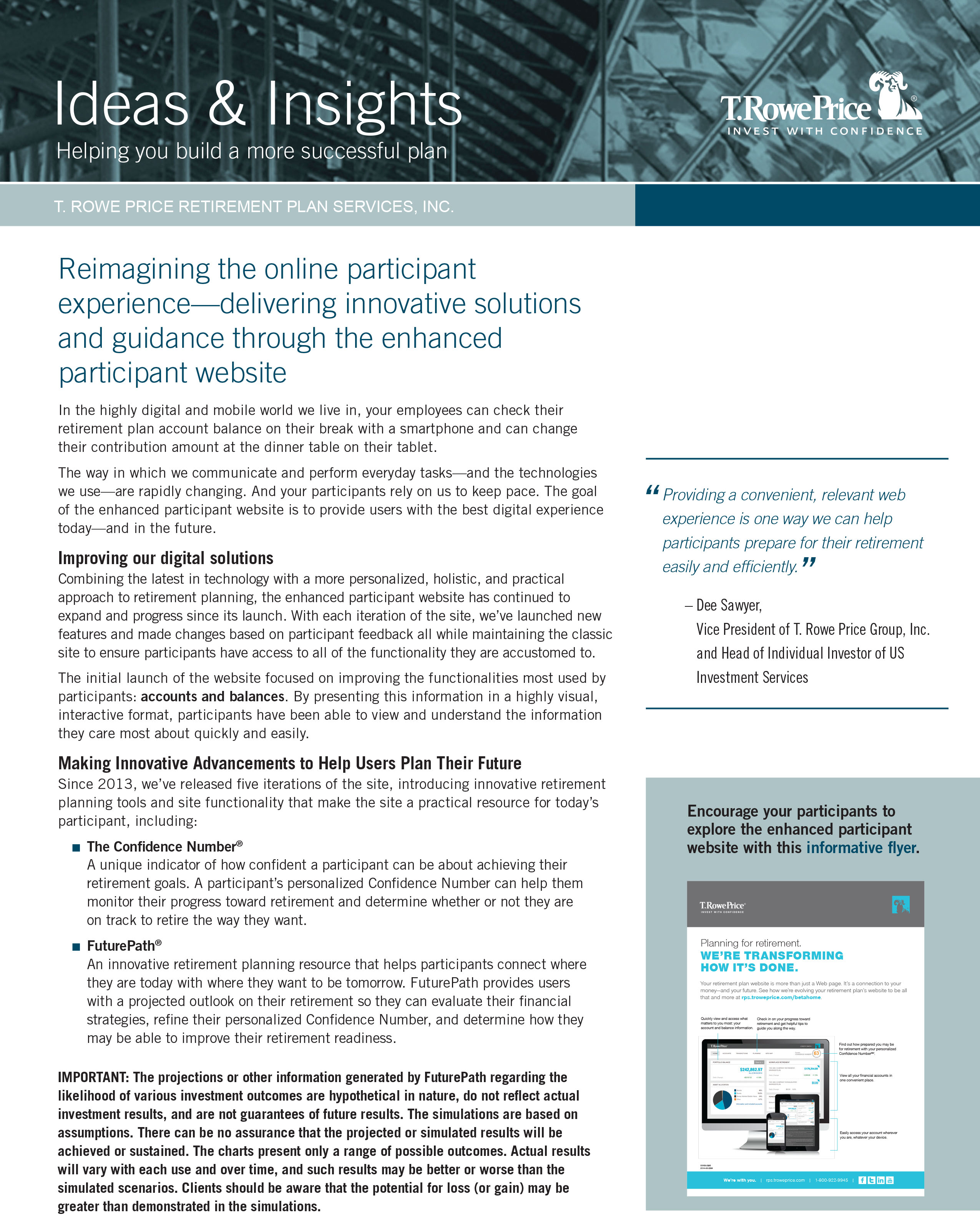 Digital Newsletter T. Rowe Price