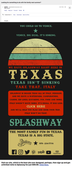 Splashway Texas Email