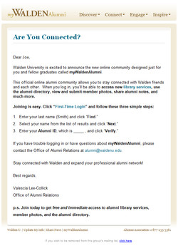 walden university emails