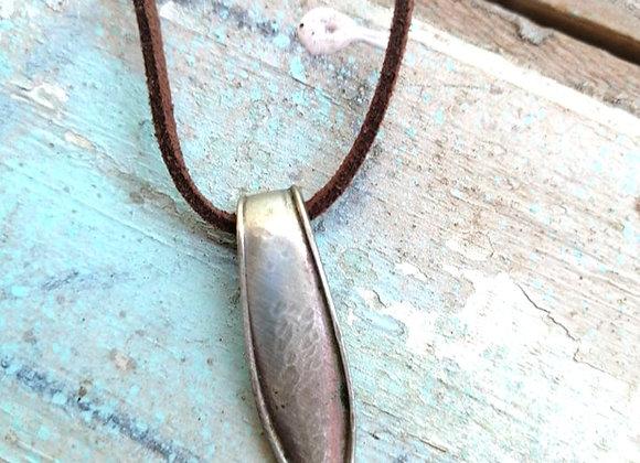 Hammered Fork Handle Necklace
