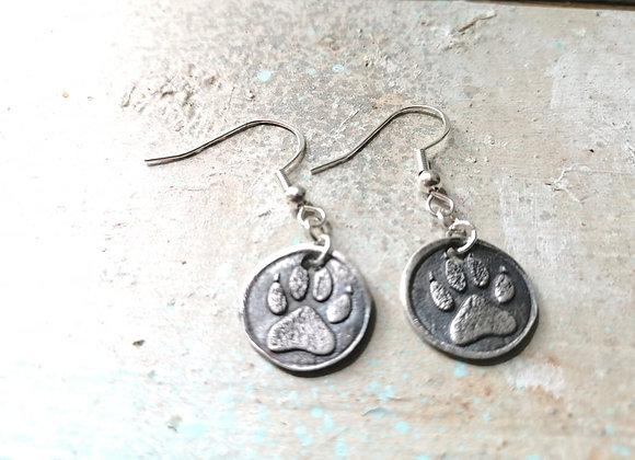 Wild Dog Print Earrings