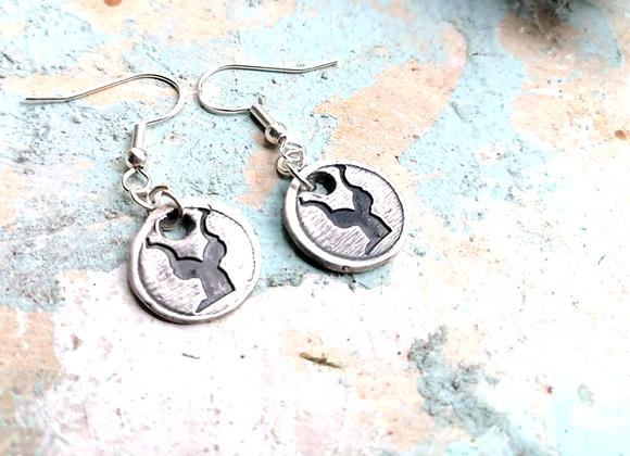 Mini Kudu Earrings