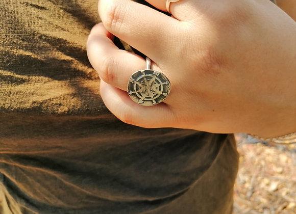 True North Ring (Oxidised)