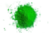 Green Powder Image with Transparent Back