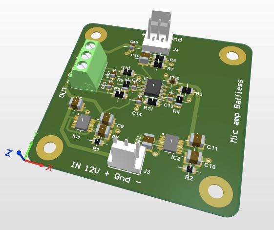 ultra low noise electret capsule mic preamplifier
