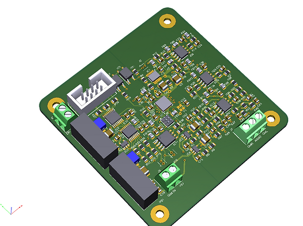 DAC part of amplifier board i2s isolated with lvds receivers