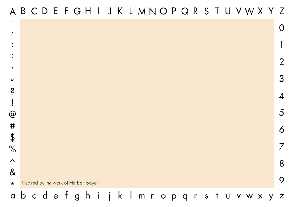 Futura Logotype Postcard, Back