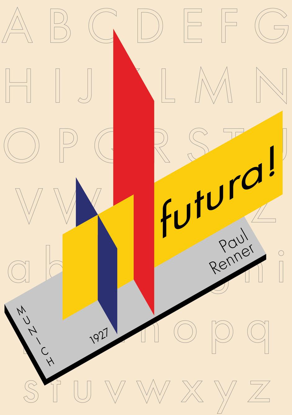 Futura Logotype Postcard, Front