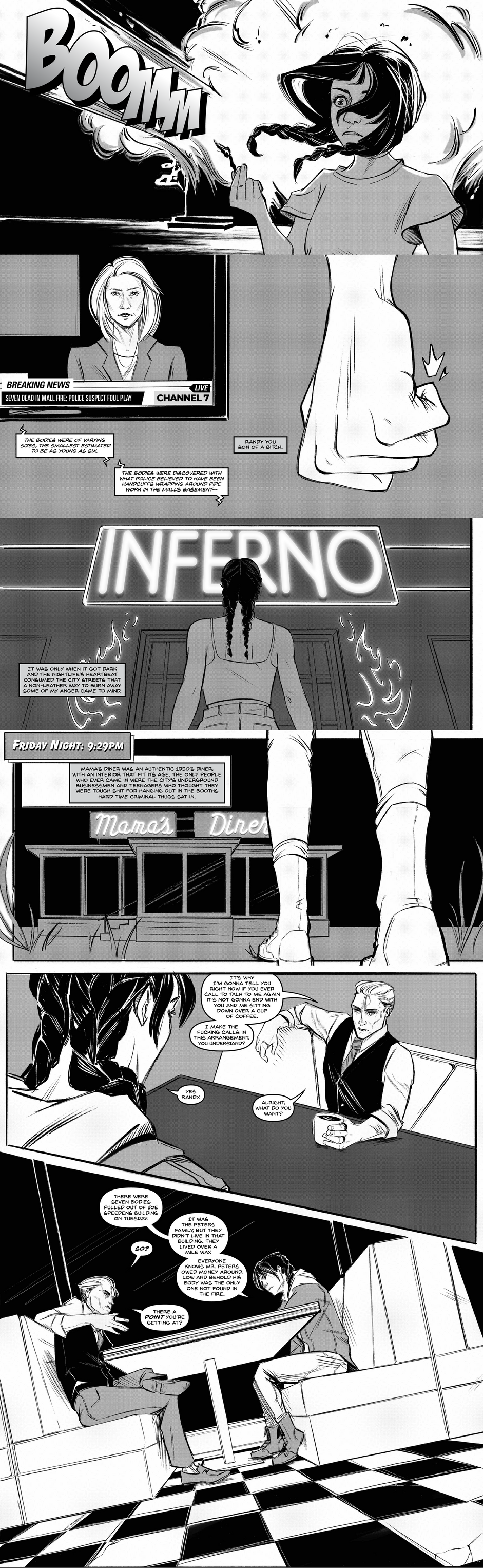 Lettering for Fire Queen, Issue 1