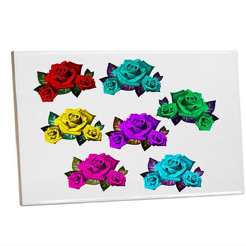 Kitchen/Bathroom Wall Tiles -Colourful  Roses