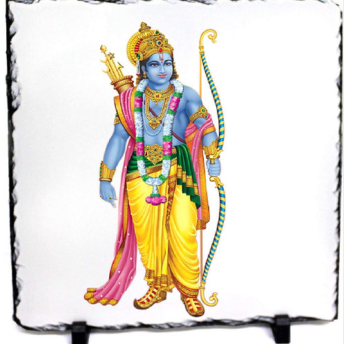Rock Slate Printed of India god