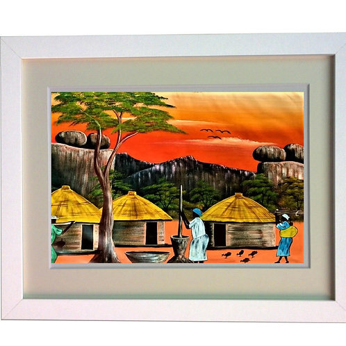 African Artwork heat printed on Sublimation