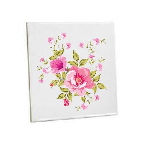 Bathroom Tiles Heat printed flower
