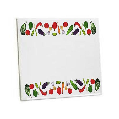 Heat Pressed Printed Kitchen Tile Line of veg