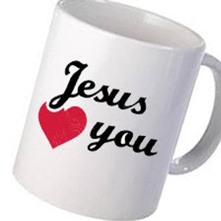 Heat Printed Personalised Mugs I love Jesus