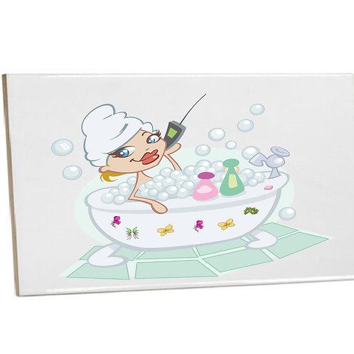 Bathroom tiles Sublimation Muma's time Heat prints