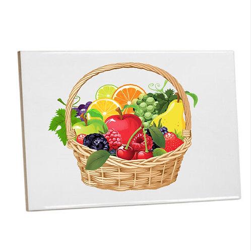 Kitchen Tiles Heat Print Basket of Fruits