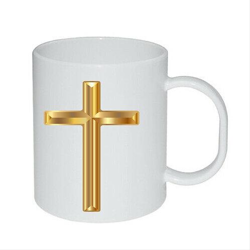 Heat Printed Mug Cross