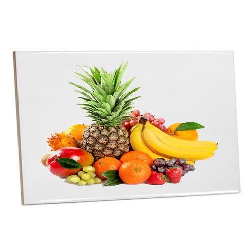 Heat Pressed Kitchen Square Ceramic Tile  Fruits