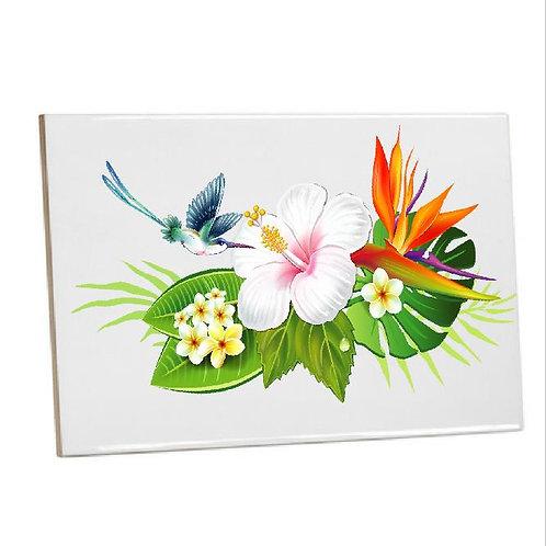 Summer Bird Flower Printed Bathroom Tiles