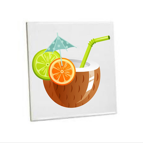 Kitchen Wall Tiles -Coconut Summer Drink