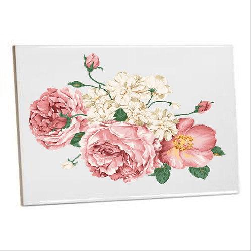 Bathroom Tiles Heat printed  Pink Rose flower