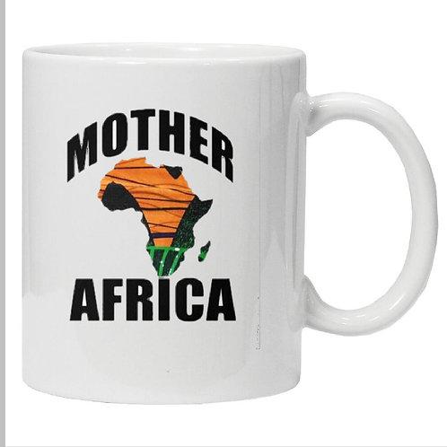 Heat African Ankara fabric map  Printed Mug
