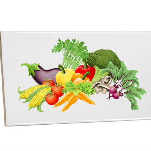 Kitchen Tiles Heat Printed veggie
