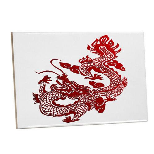 Bathroom wall Printed Tiles Asian Red Dragon