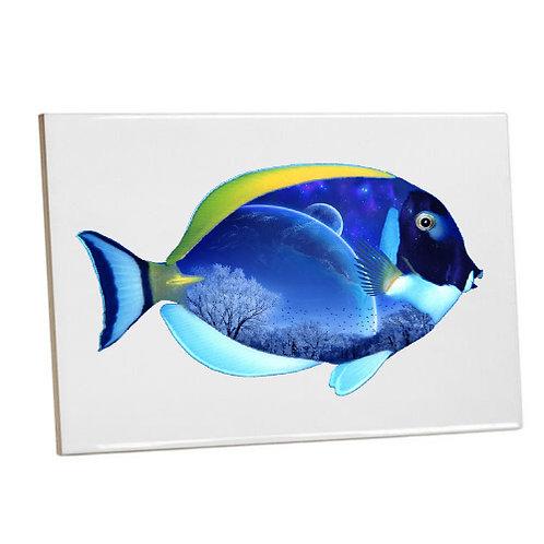 Bathroom wall Printed Tiles-Blue Moon Aquarium Fish