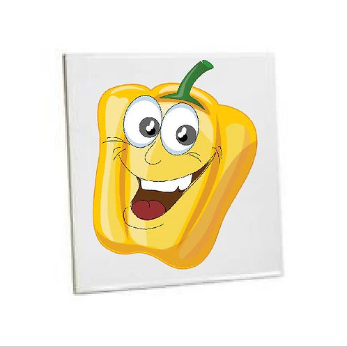Heat Pressed Kitchen Tiles Yellow Bell Pepper