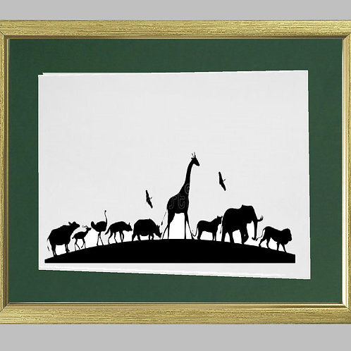 African Animals  Heat Printed on Sublimation Rectangle Ceramic Tile