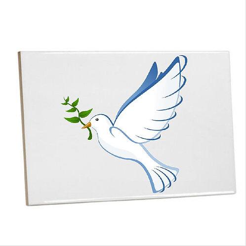 Bathroom Heat printed  Prayerful Dove Tiles