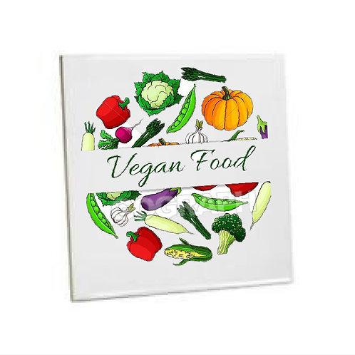 Kitchen Tiles Heat Printed vegan food