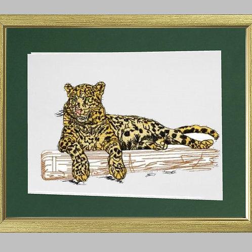 African  Jaguar Heat Printed on Sublimation Rectangle Ceramic Tile