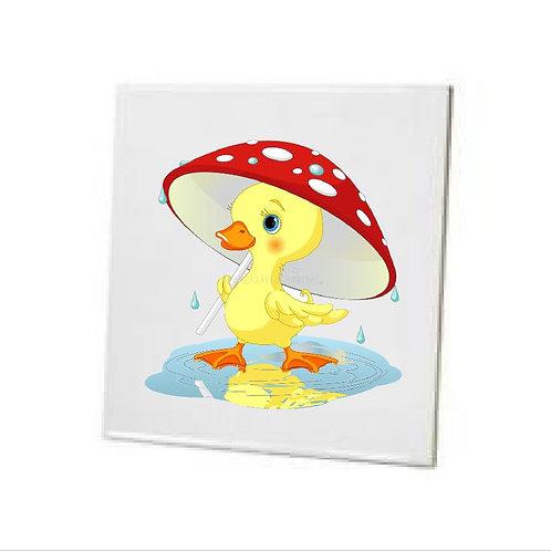 Bathroom Tile duck in the rain Ceramic Sublimation