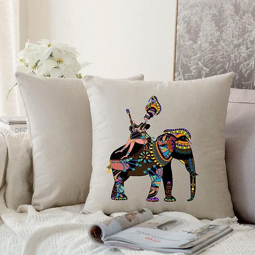 Heat Printed Canvas Cushion Cover