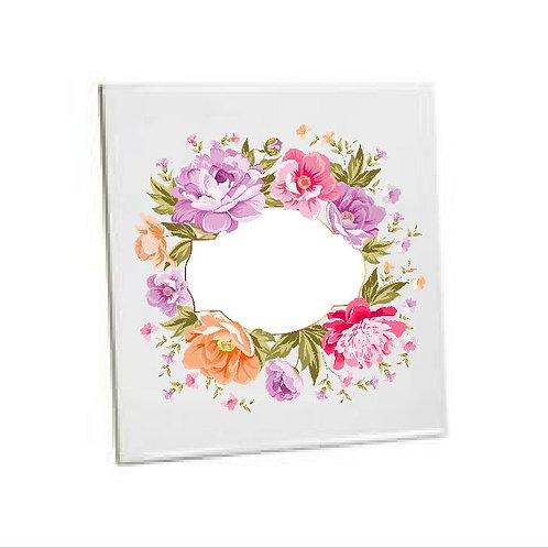 Bathroom Tiles Heat printed Ring of flowers