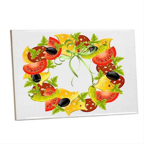 Heat Pressed Printed Kitchen Tile Veg