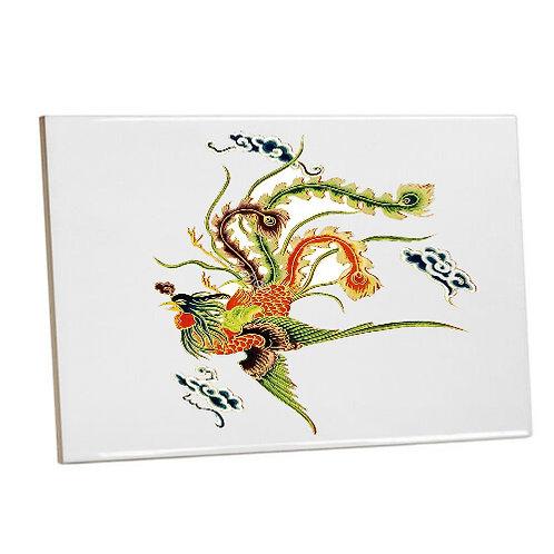 Bathroom Printed Tiles-Colourful Phoenix